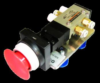 SAI2110- Distributeur 5/2 actionnée par bouton d'arrêt d'urgence