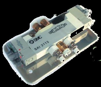 SAI2113 - Électrodistributeur 5/3 centre à l'échappement