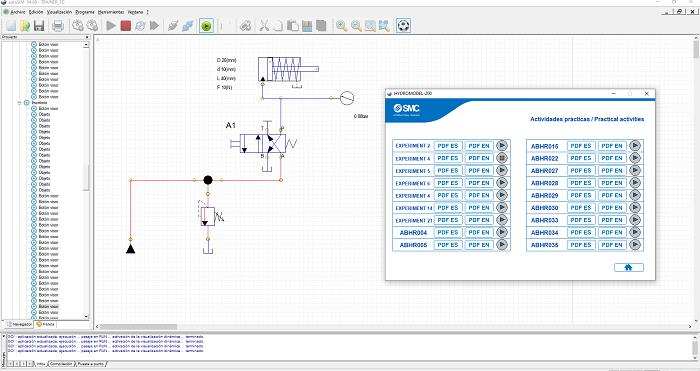 Aplicacion 2D del HYDROMODEL-200 para autoSIM-200