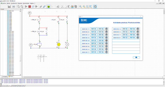 Aplicación 2D de ICT-200 para autoSIM-200