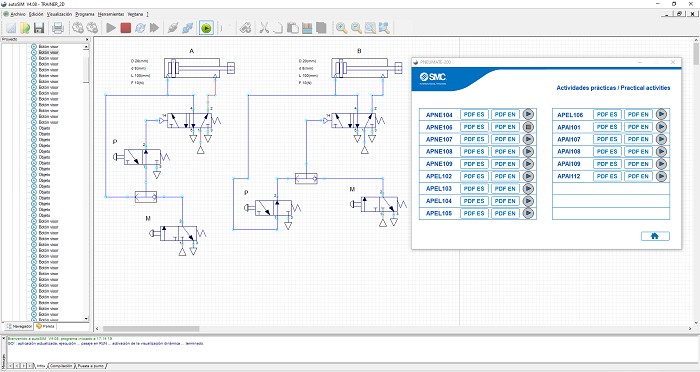 Aplicacion 2D del PNEUTRAINER para autoSIM-200