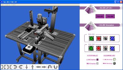 Aplicación 3D de FAS-200 para autoSIM-200