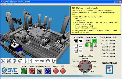 Aplicación 3D de FMS-200 para autoSIM-200