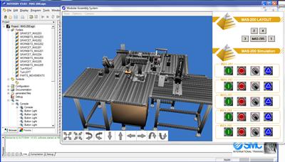 Aplicación 3D de MAS-200 para autoSIM-200