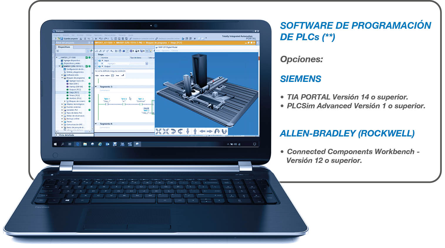 Software de programacion de PLC para autoSIM