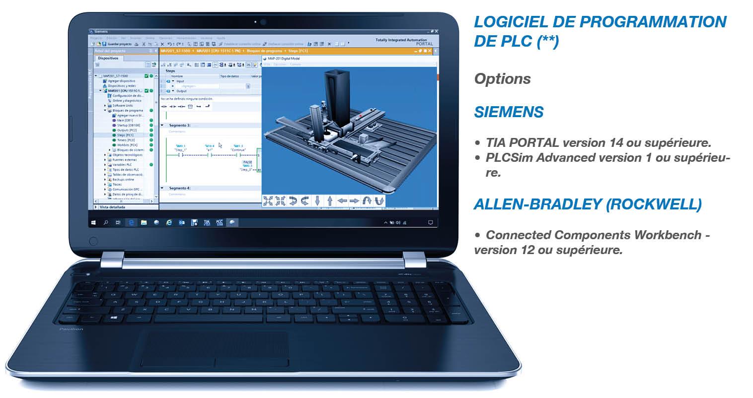 LOGICIEL DE PROGRAMMATION DE PLC pour autoSIM-200