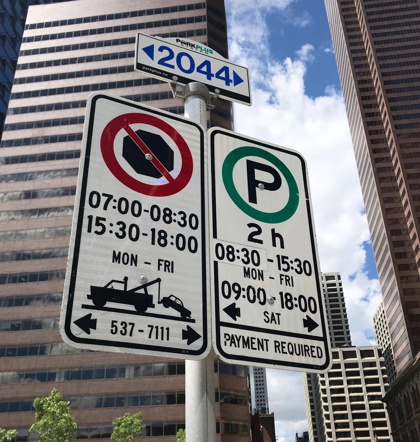 'CPA Parkign Sign'
