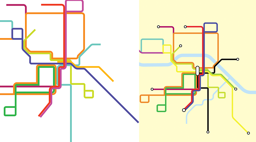 'Calgary Streetcar Map Sketches'