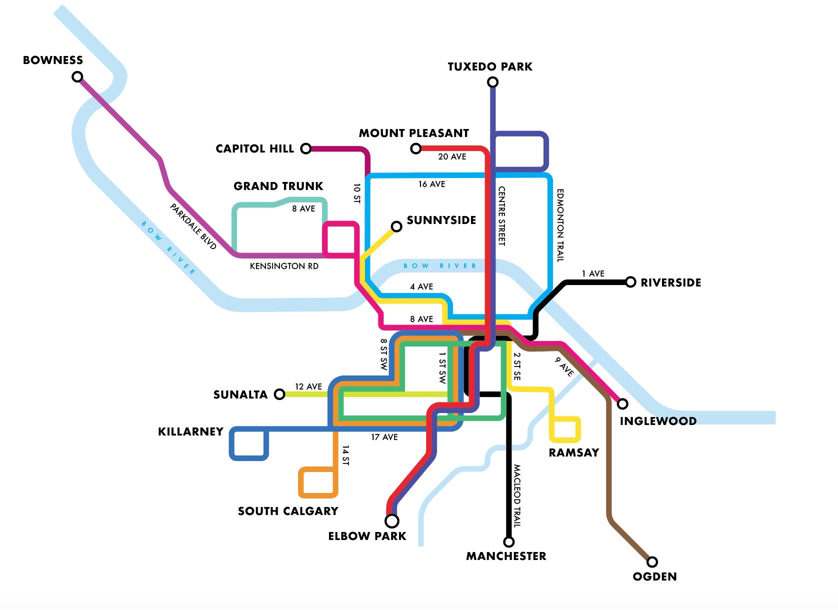 'Calgary Streetcar Map'