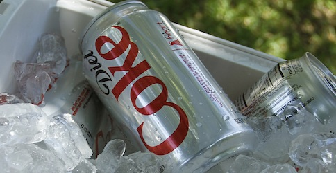 Diet Coke on Set