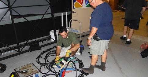 Don't unplug on set