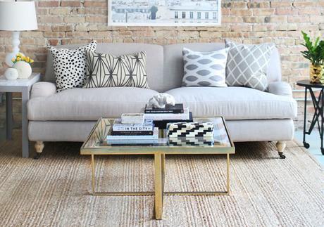 Pinterest da vida real: Sala com sofá cinza