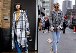 Casacos xadrez voltam com tudo para a moda de rua