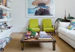 Harmonize a decoração com móveis coloridos