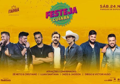 ITAIPAVA É A CERVEJA OFICIAL DO FESTEJA CUIABÁ - 24 de Novembro
