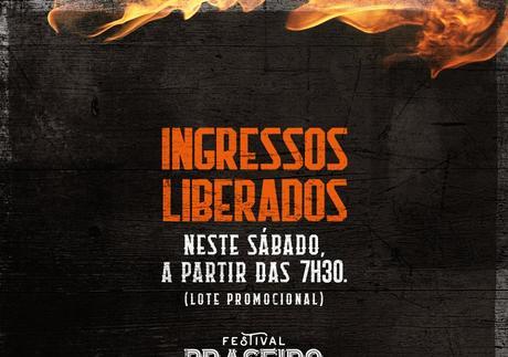 Ingressos para quinta edição do Festival Braseiro têm venda liberada neste sábado