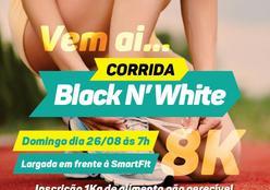 Corrida de Rua solidária Black N' White no próximo domingo