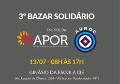 Neste sábado, Bazar Solidário em prol dos pacientes oncológicos