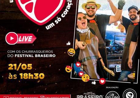 Festival Braseiro promove lives solidárias a partir de hoje