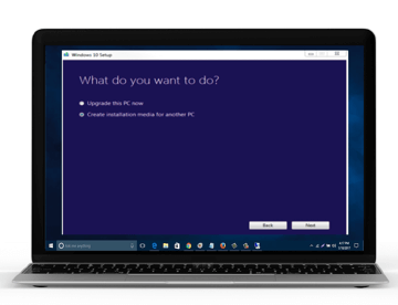 Dialog window with options What do you want to do?