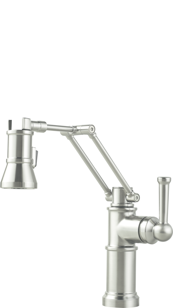 articulating kitchen faucet articulating arm kitchen faucets for residential pros 10182