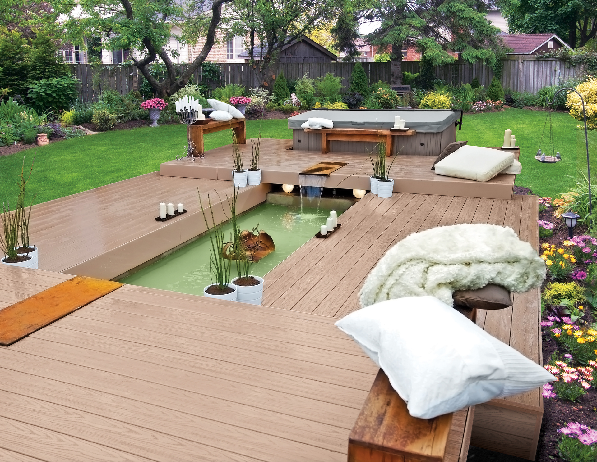 Tongue And Groove Design For Pvc Deck Boards For