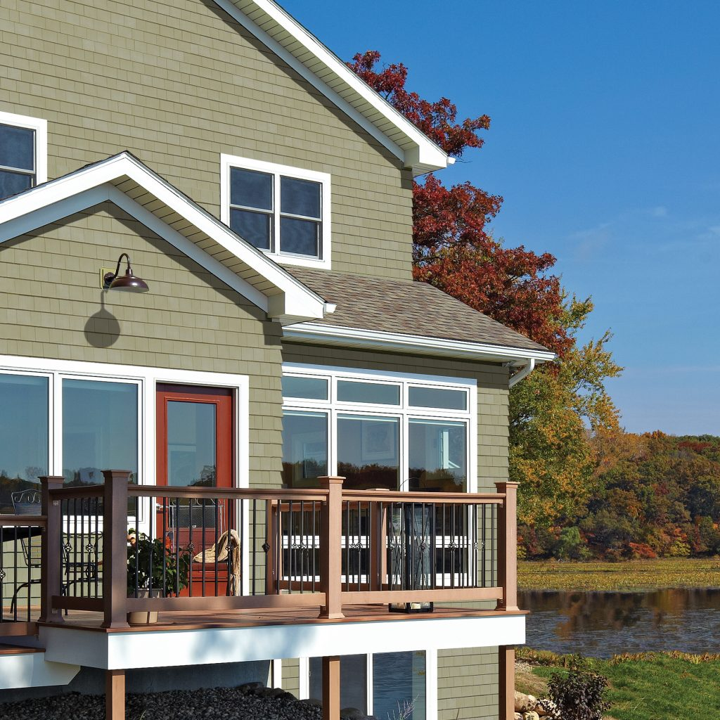 Siding Reminiscent Of Early New England Settlement For