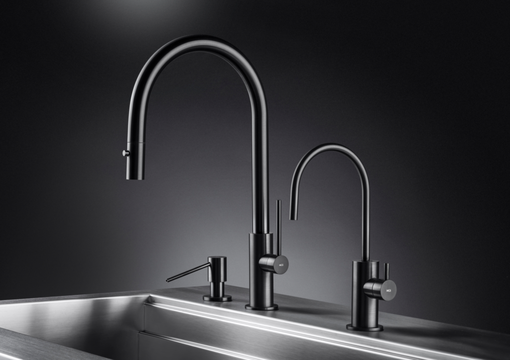 Black Steel Finish Kitchen Faucet For Residential Pros