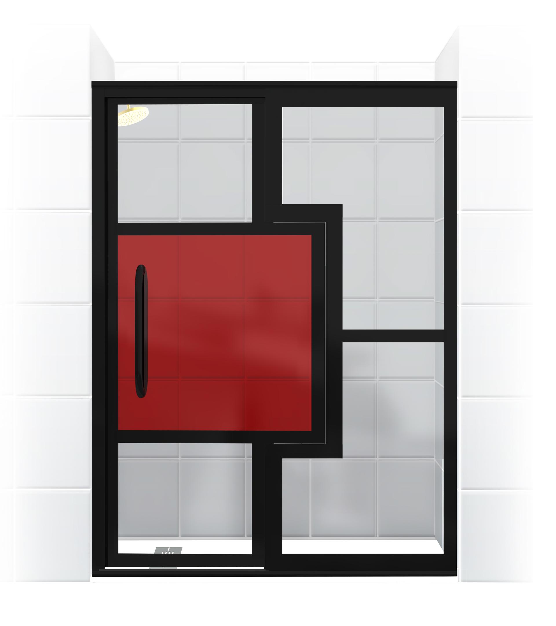 Mondrian Shower Door For Residential Pro