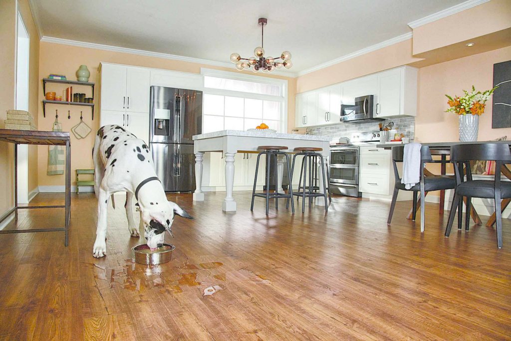 Spill proof hardwood floors