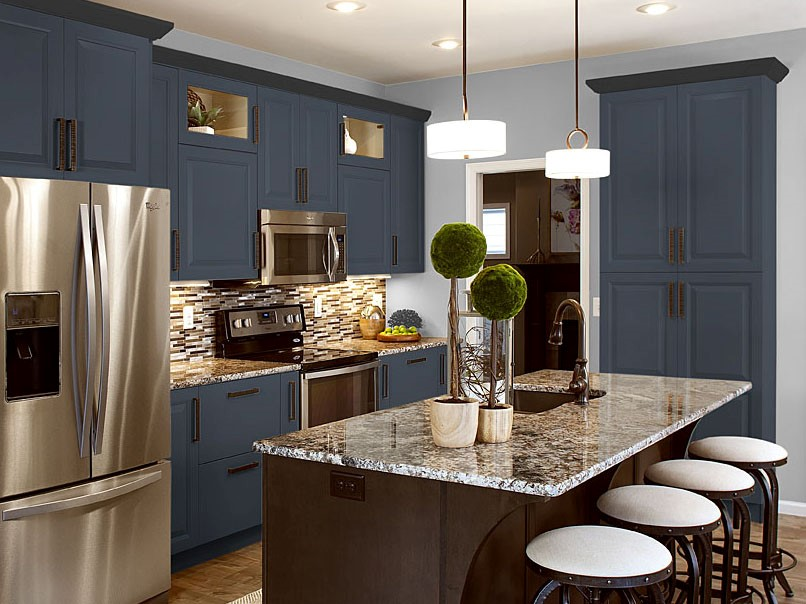 Navy Cabinet Hue | For Residential Pros