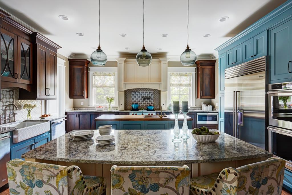 Pops of Color Highlight Tricolor Kitchen   Kitchen & Bath ...