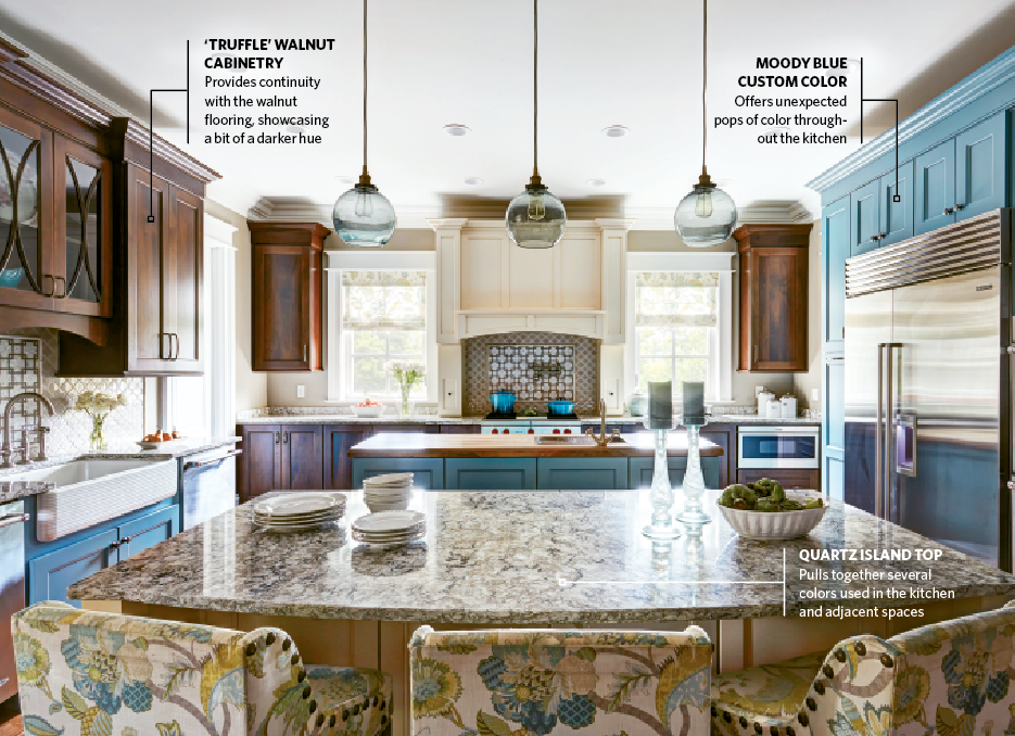 Surprising Pops Of Color Highlight Tricolor Kitchen Kitchen Bath Home Interior And Landscaping Ologienasavecom