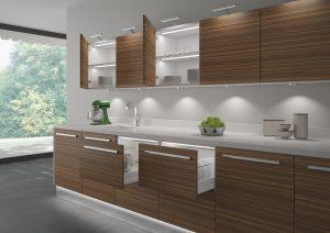 illuminated cabinet interior