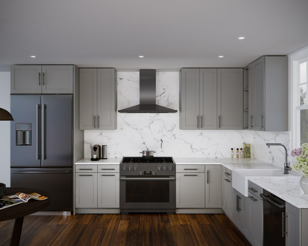 Residential Steel Kitchen Cabinets