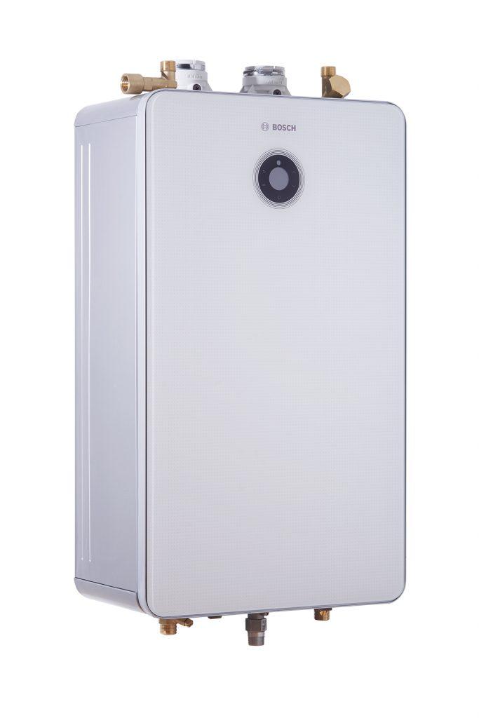 Nine tankless condensing gas water heaters