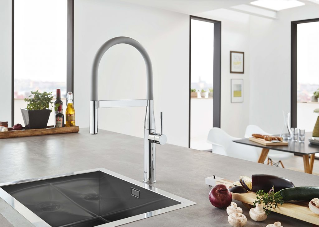 Grohe Essence Kitchen Faucet In Orange