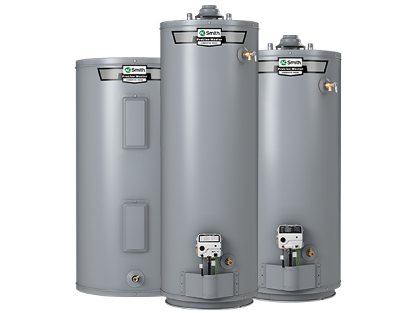 Residential water heaters featuring commercial elements