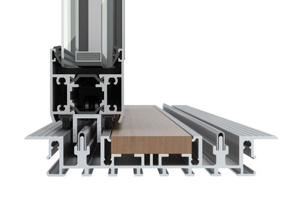 Minimal framed sliding glass wall system for residential pro for Sliding glass wall systems