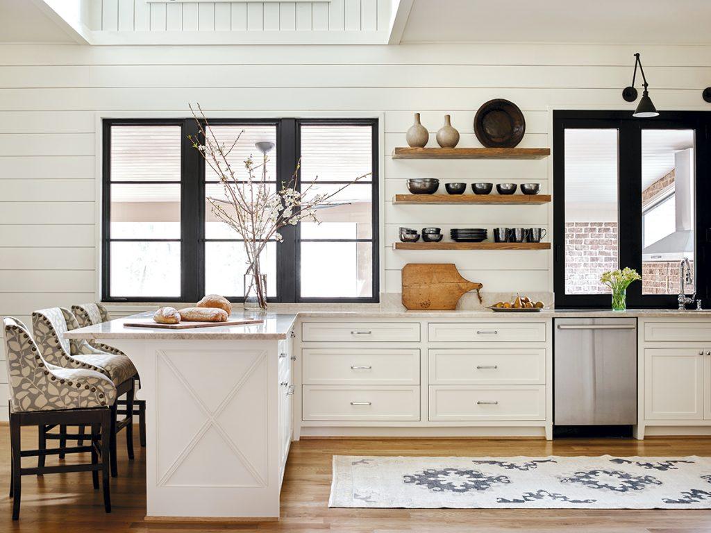 Horizontal Wood Paneling Kitchen