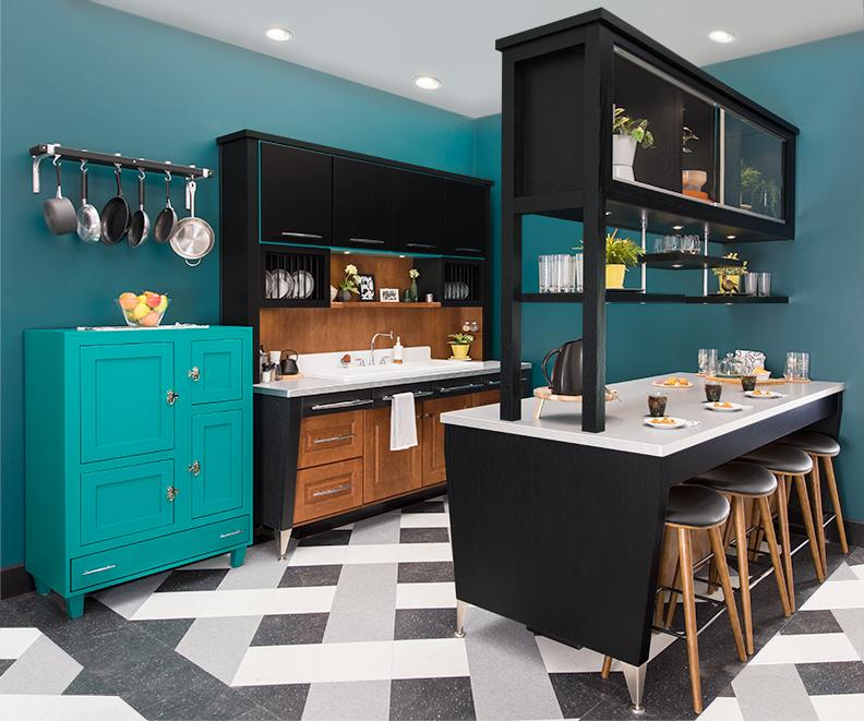 Retro Kitchen Design Pictures: Retro-Modern Kitchen Design