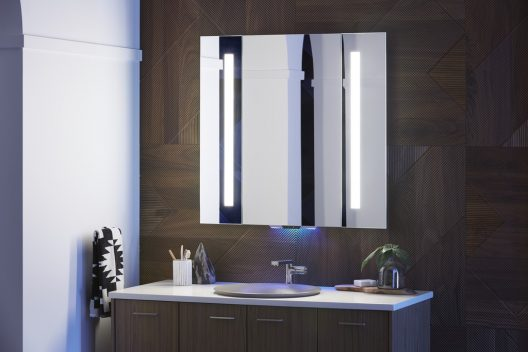 Mirror with built-in Amazon Alexa
