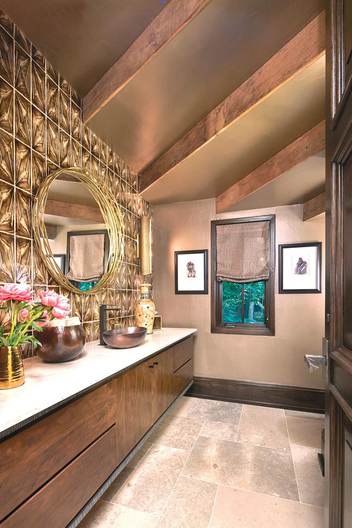 Powder rooms kbda 2018 kitchen bath design news - Powder room ideas 2018 ...