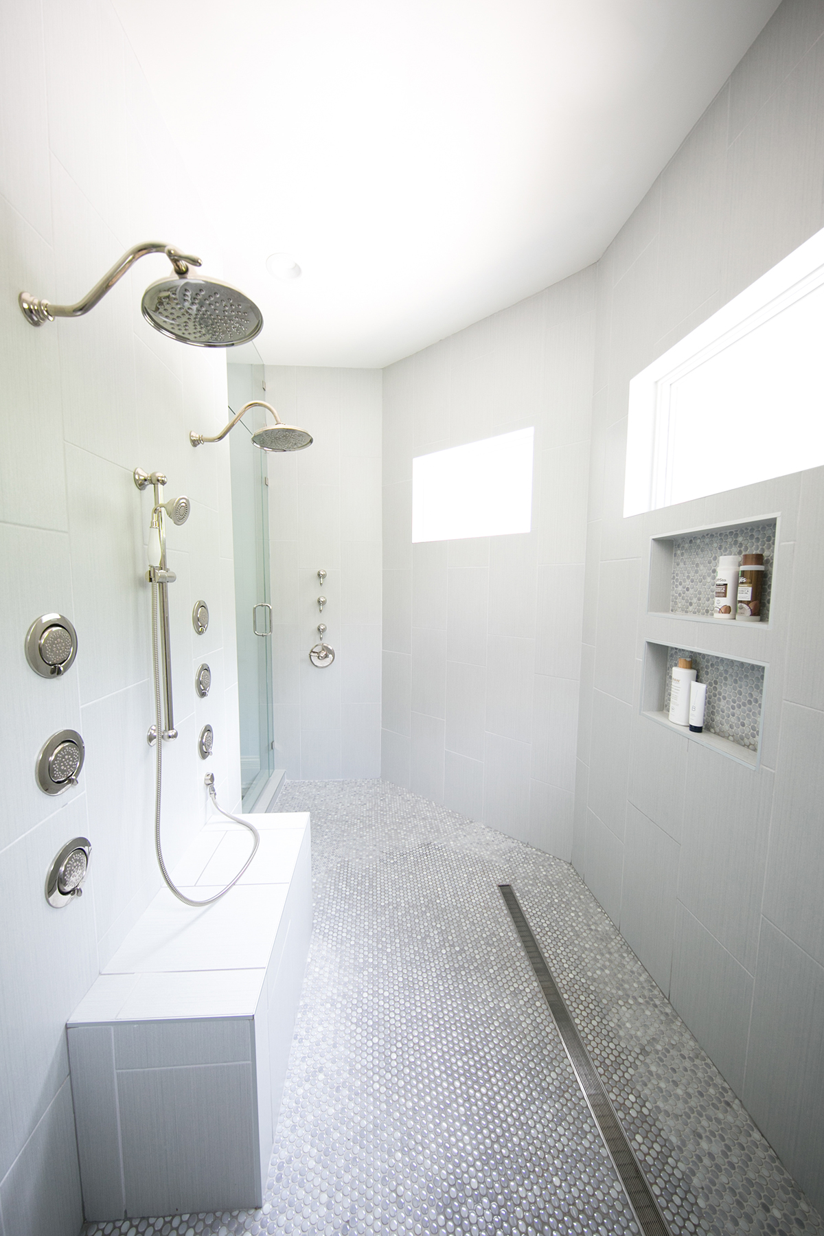 Modern and Bright Master Bathroom Remodel