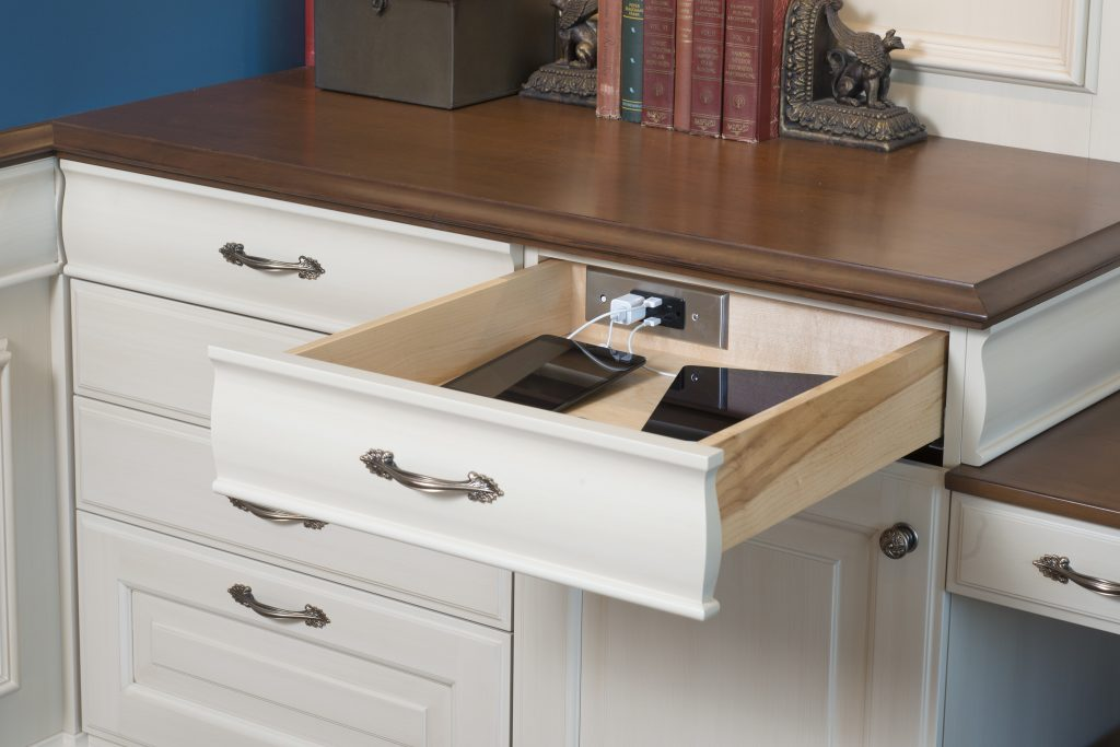 Partnership produces in-drawer outlets