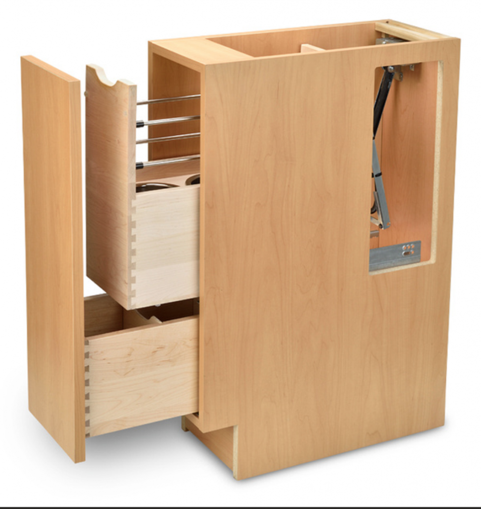 Wood Mode Cabinetry: Partnership Produces In-drawer Outlets