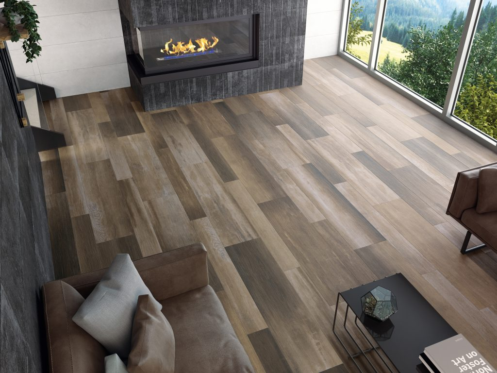 Glazed Porcelain Tile Offers Wood Look For Residential Pros