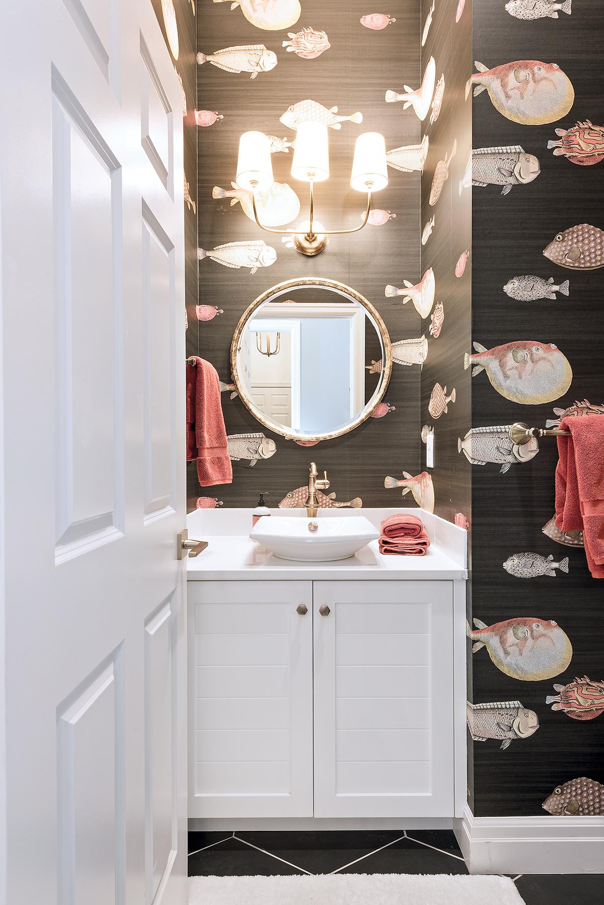 Collins & Dupont Design Group powder room pizzazz | kitchen & bath design news