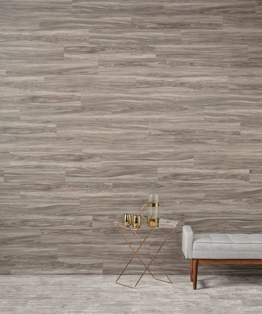 Luxury vinyl for floor, wall applications