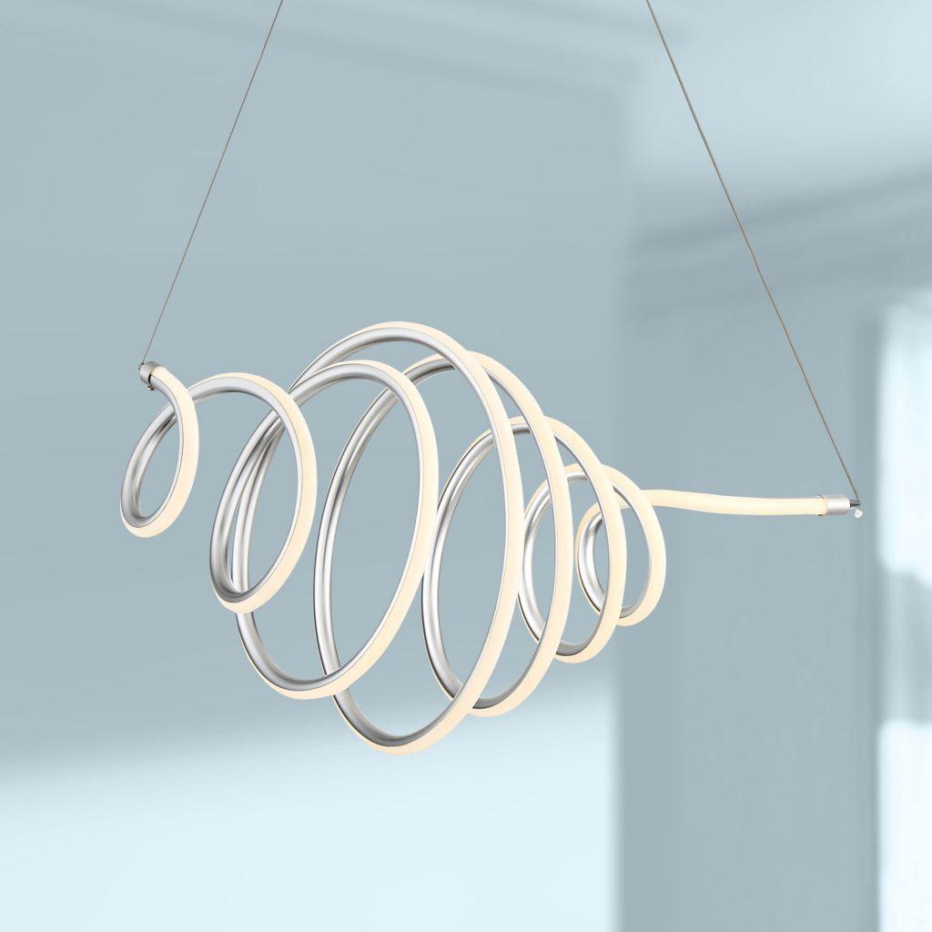 LED Swirl Pendant